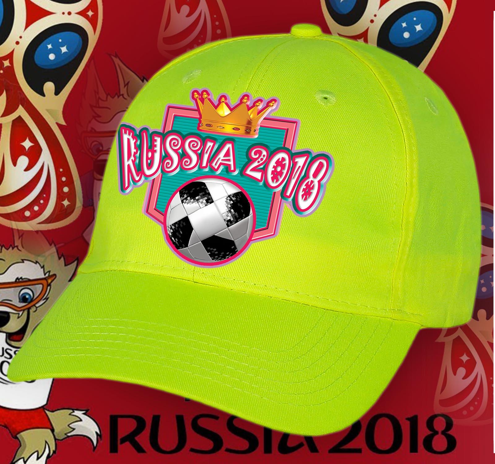 Яркая кепка RUSSIA 2018