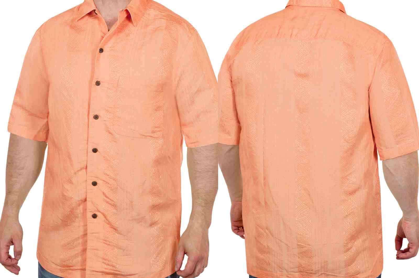 Яркая летняя рубашка от американского бренда Caribbean Joe-двойной ракурс