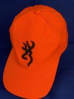 Яркая оранжевая бейсболка с вышивкой