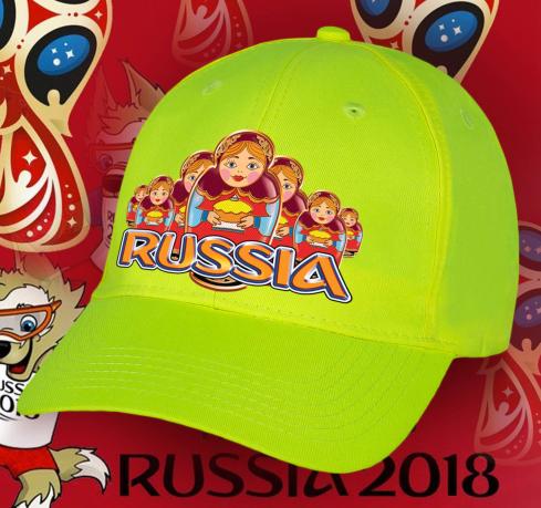 Яркая патриотическая бейсболка с эксклюзивным принтом «Russia» Матрешки с хлебом солью. В таком головном уборе, Вы не останетесь незамеченным
