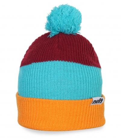 Яркая позитивная зимняя шапка Neff