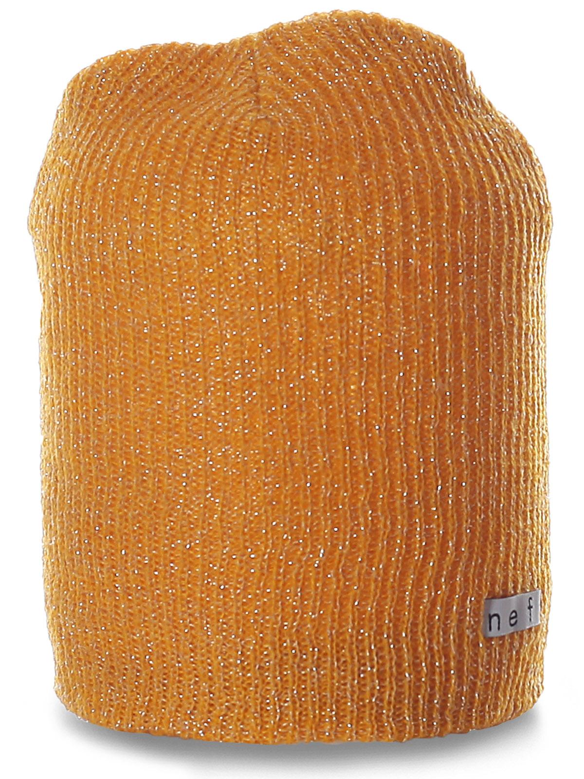 Яркая шапка Neff с блестящей нитью. Классная модель для современных девушек