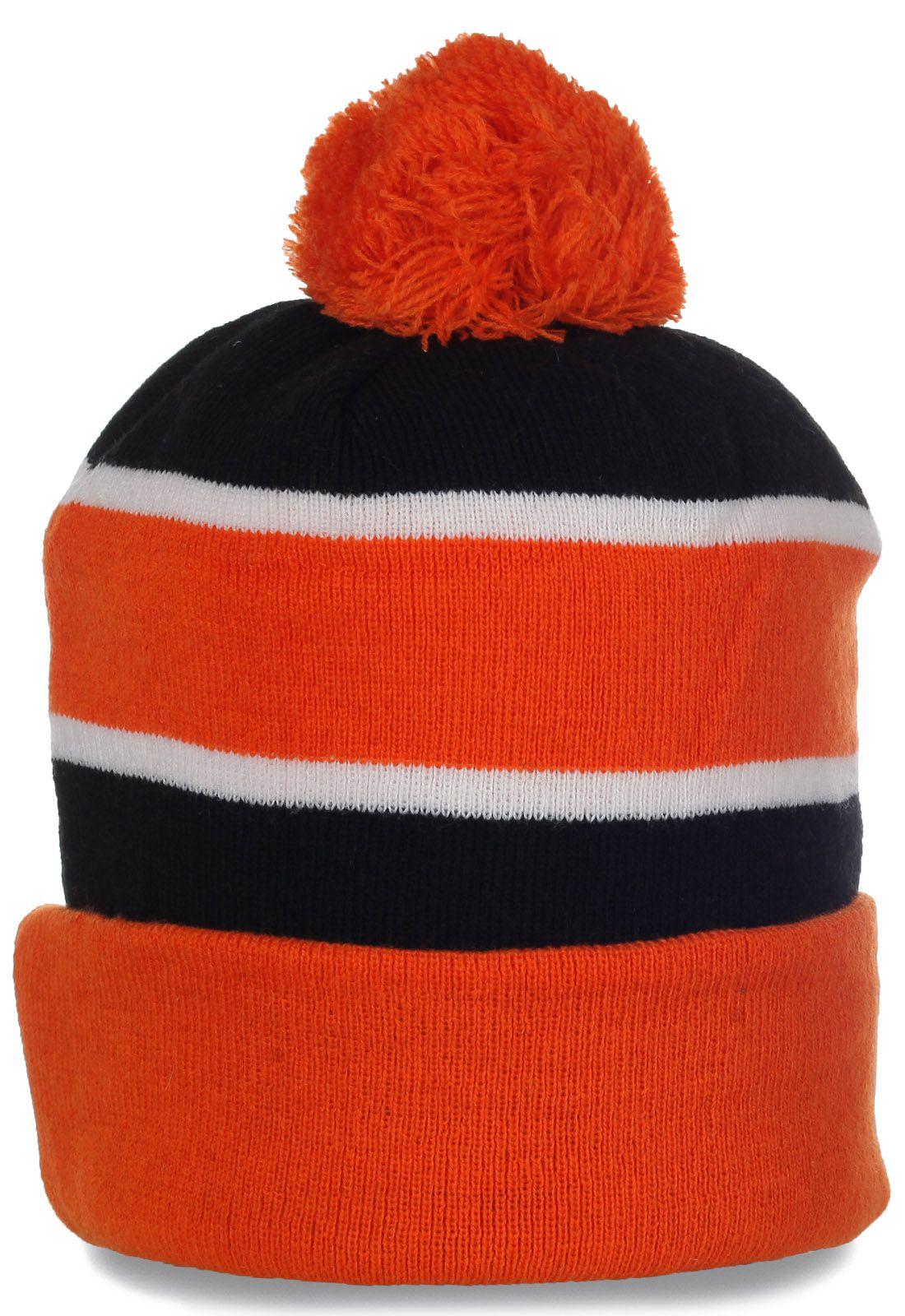 Яркая шапочка на флисе - ваше отличное настроение в зимний день!