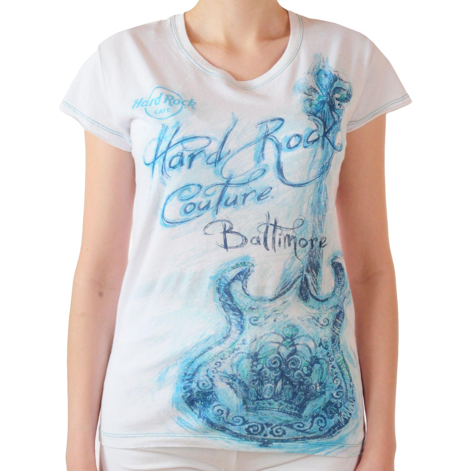 Белая женская футболка Hard Rock® Baltimore