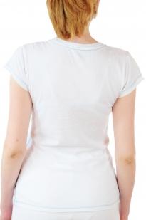 Белая женская футболка Hard Rock® Baltimore - вид сзади