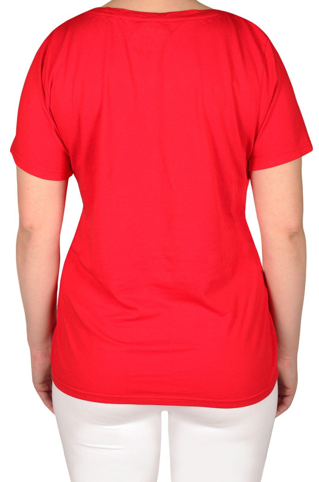 Яркая женская футболка от бренда Loveless Cafe (США) - вид сзади