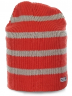 Яркая женская шапка Neff в оранжево-белую полоску. Популярная модель современного дизайна по отличной цене