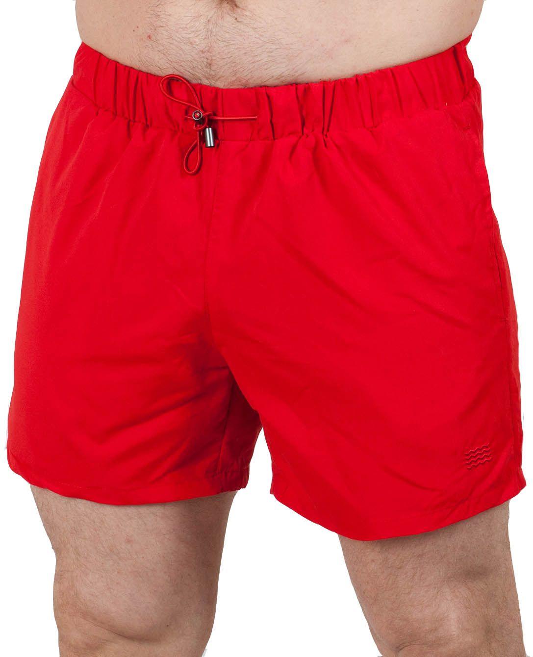 Яркие мужские шорты для плавания (Topman) - вид спереди