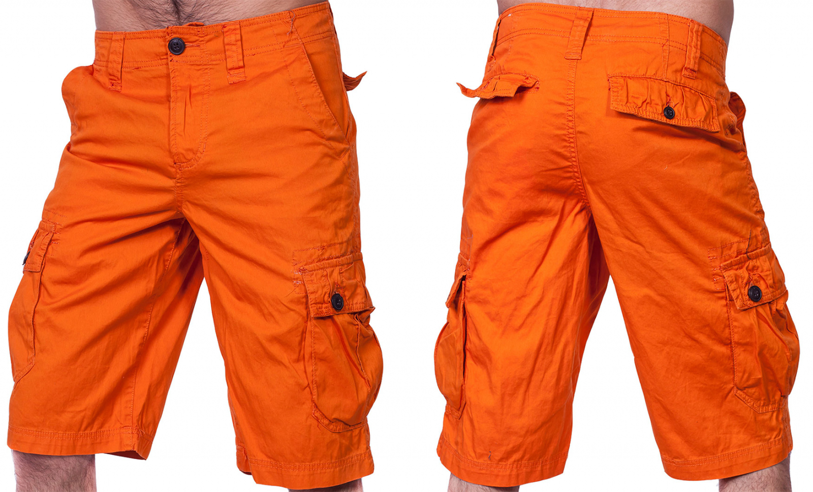 Яркие шорты карго от бренда URBAN