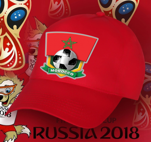 Ярко-красная бейсболка фанату Марокко