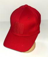 Ярко-красная бейсболка с вышитой надписью