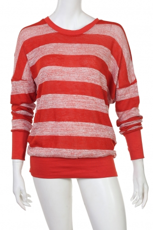 Ярко-красное зауженное мини-платье