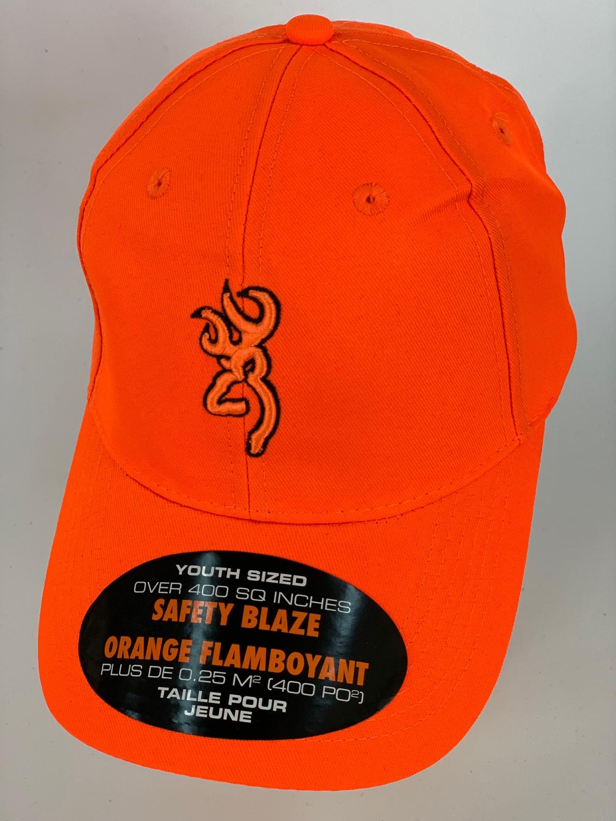 Ярко-оранжевая бейсболка Browning с выпуклой оранжево-черной вышивкой