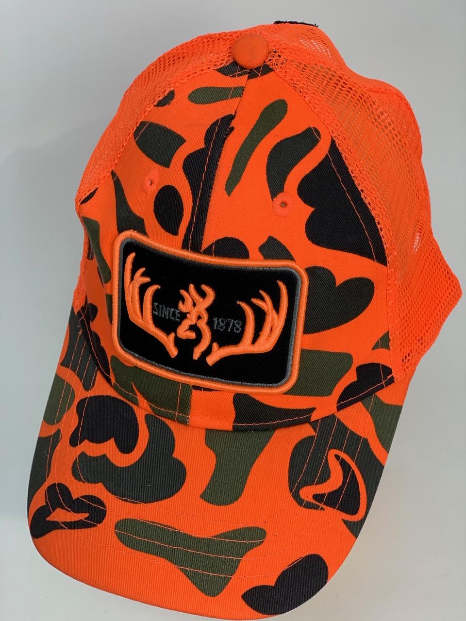 Ярко-оранжевая бейсболка милитари
