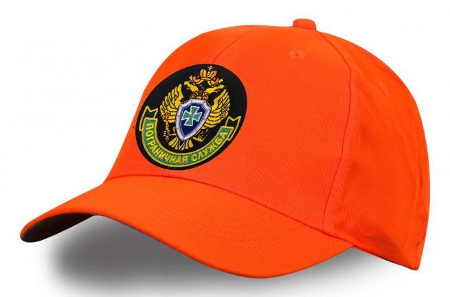 """Ярко-оранжевая бейсболка """"Пограничная служба"""""""