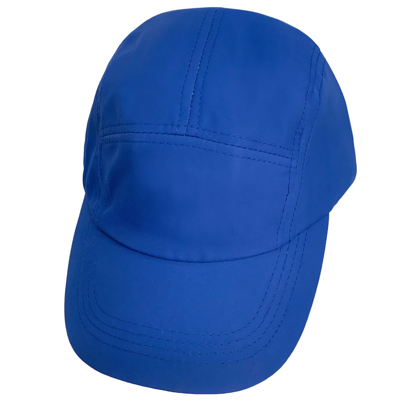 Ярко-синяя однотонная бейсболка