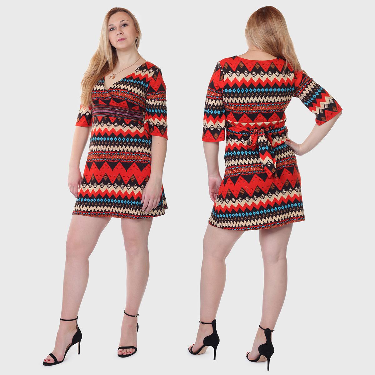 Трикотажный ХИТ! Яркое платье-туника Angie.
