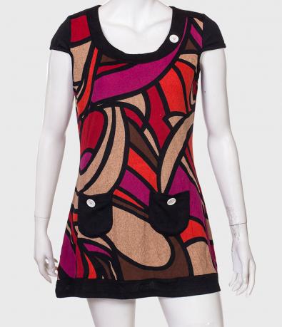 Яркое принтованное платье-туника от бренда Le Grenier