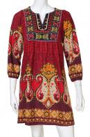 Яркое задорное платье с этно-орнаментом