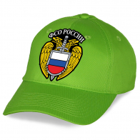 Зеленая унисекс бейсболка ФСО России.