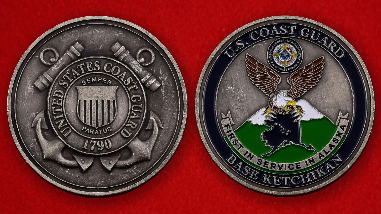 "Юбилейеая монета США ""База Береговой охраны Кетчикан, Аляска"""