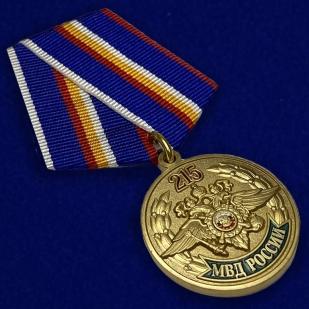 Юбилейная медаль 215 лет МВД России - общий вид