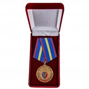 Юбилейная медаль 95 лет Уголовному Розыску МВД России - в футляре