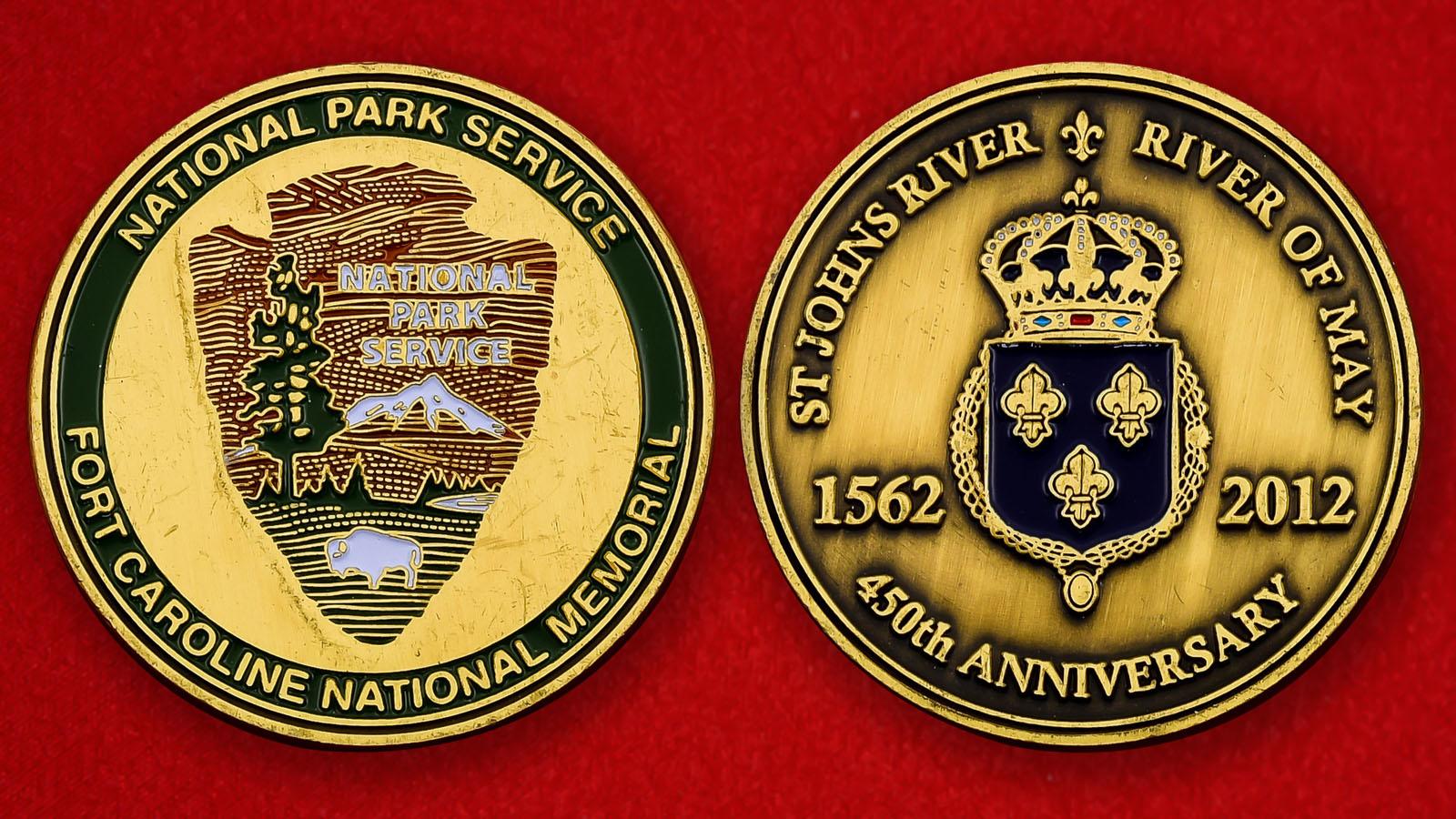 """Юбилейная монета США """"Национальный мемориал Форт Каролина"""""""