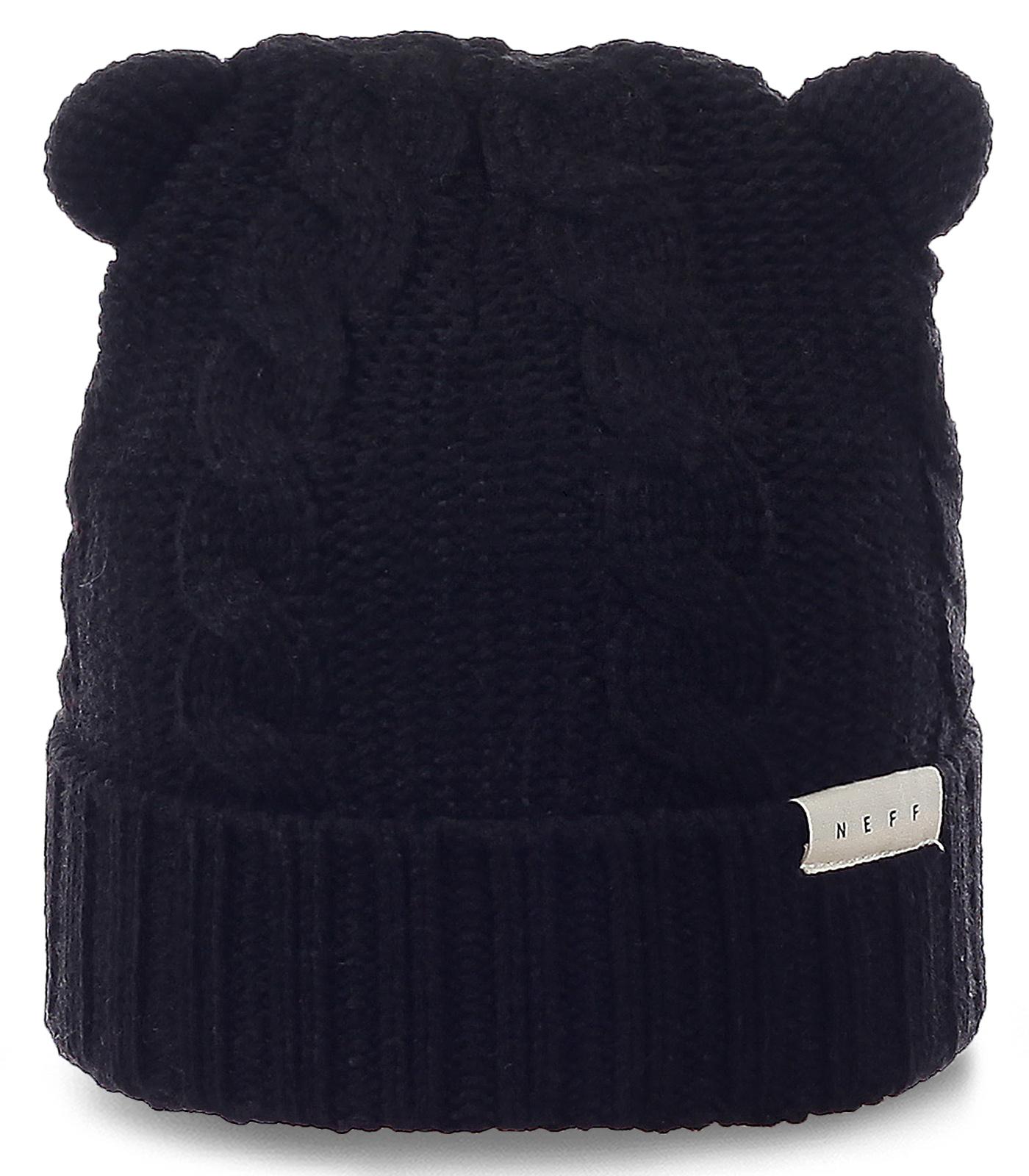 Забавная шапка Neff с ушками. Ультрасовременная модель для модных девушек