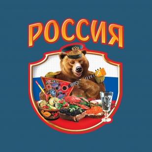 Зачетная футболка Россия «Гостеприимный Мишка».