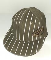 Зачетная кепка-рэперка цвета хаки в полоску
