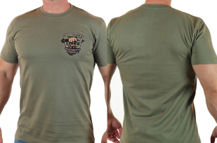 Зачетная мужская футболка с нашивкой Охотничьи войска