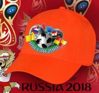 Зачетная оранжевая бейсболка Россия 2018