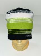 Зачетная шапка в крупную и мелкую полоску