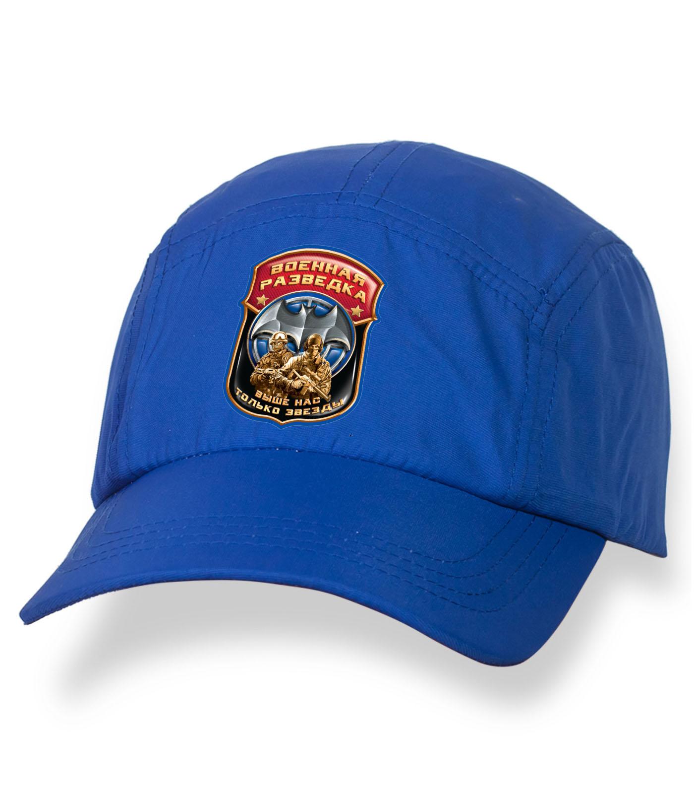 Зачетная синяя бейсболка с термонаклейкой Военная Разведка