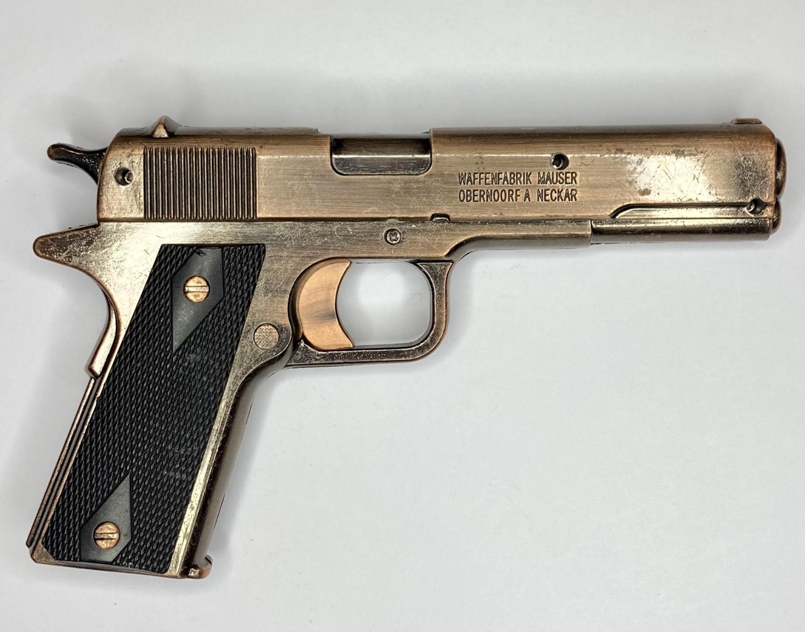 Зачетная сувенирная зажигалка-пистолет