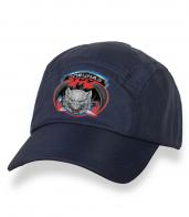 Зачетная темно-синяя бейсболка с термонаклейкой Спецназ ГРУ