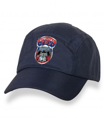 Зачетная темно-синяя бейсболка с термотрансфером Спецназ ГРУ