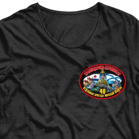 Зачетная термотрансферная наклейка 40 Отдельная бригада Морской Пехоты