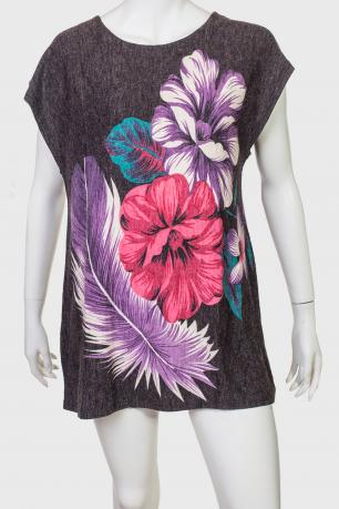 Зачетное яркое платье-туника от бренда ZB