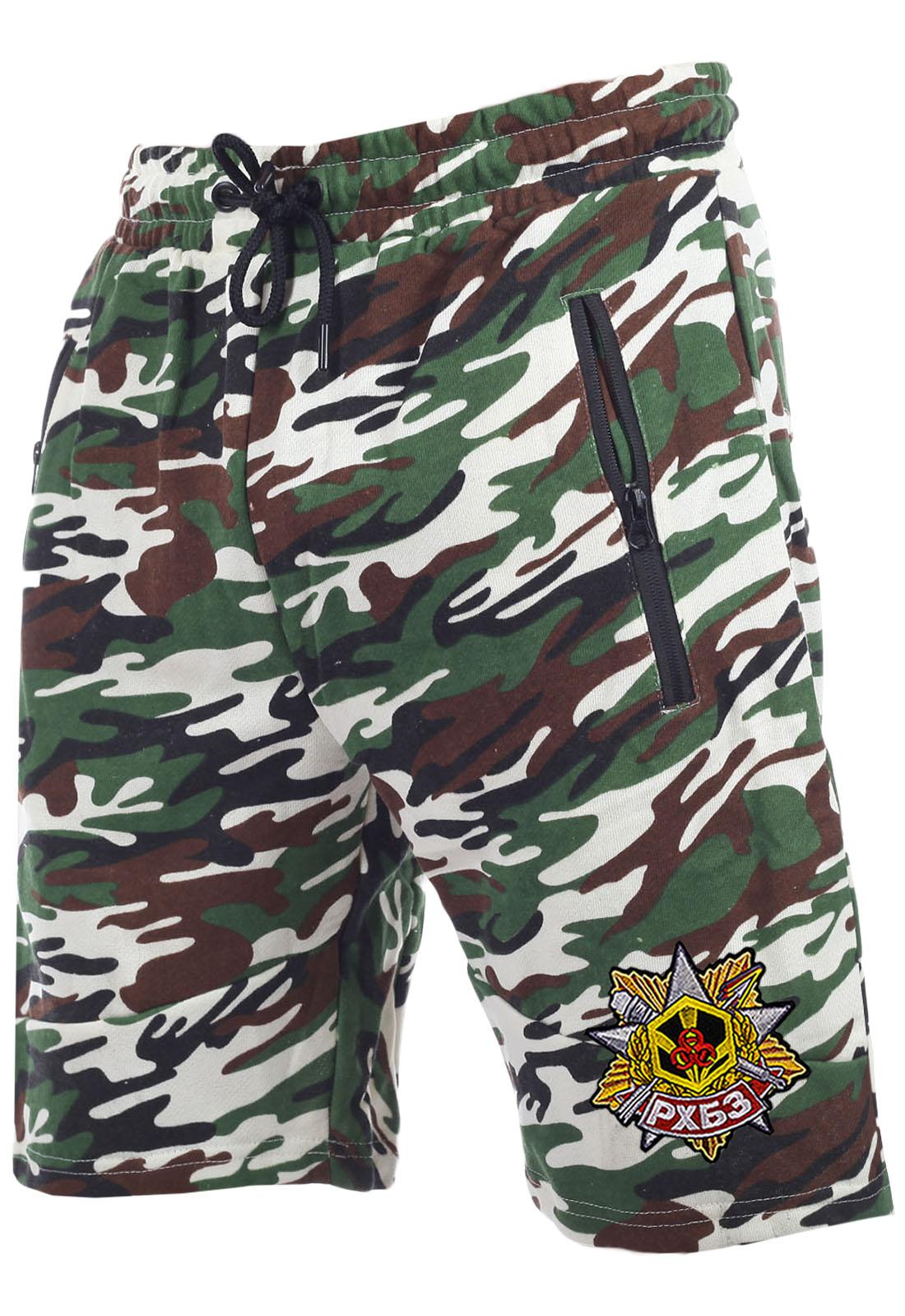 Зачетные камуфляжные шорты с карманами  нашивкой РХБЗ