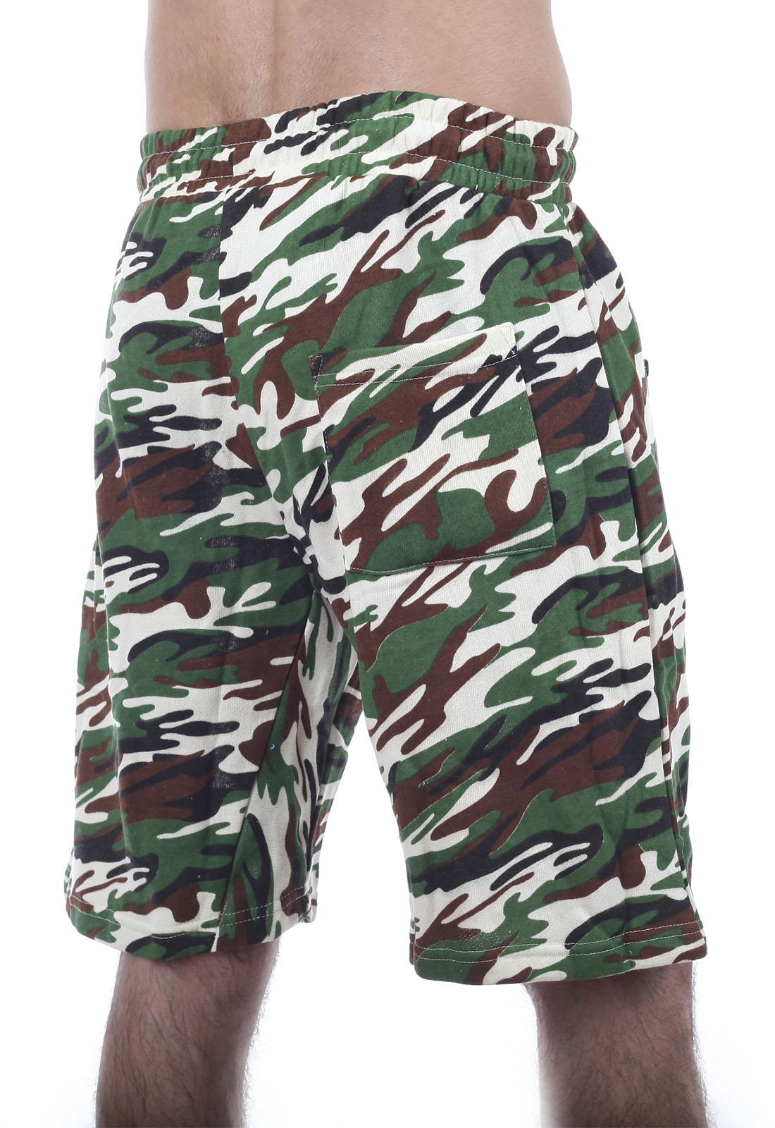 Зачетные камуфляжные шорты с карманами  нашивкой РХБЗ - заказать онлайн
