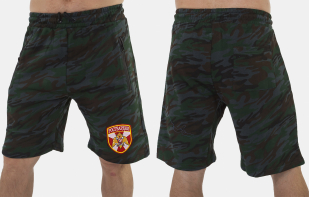 Зачетные камуфляжные шорты с нашивкой Росгвардия - заказать по лучшей цене