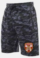 Зачетные камуфляжные шорты с удобными карманами и нашивкой Росгвардия
