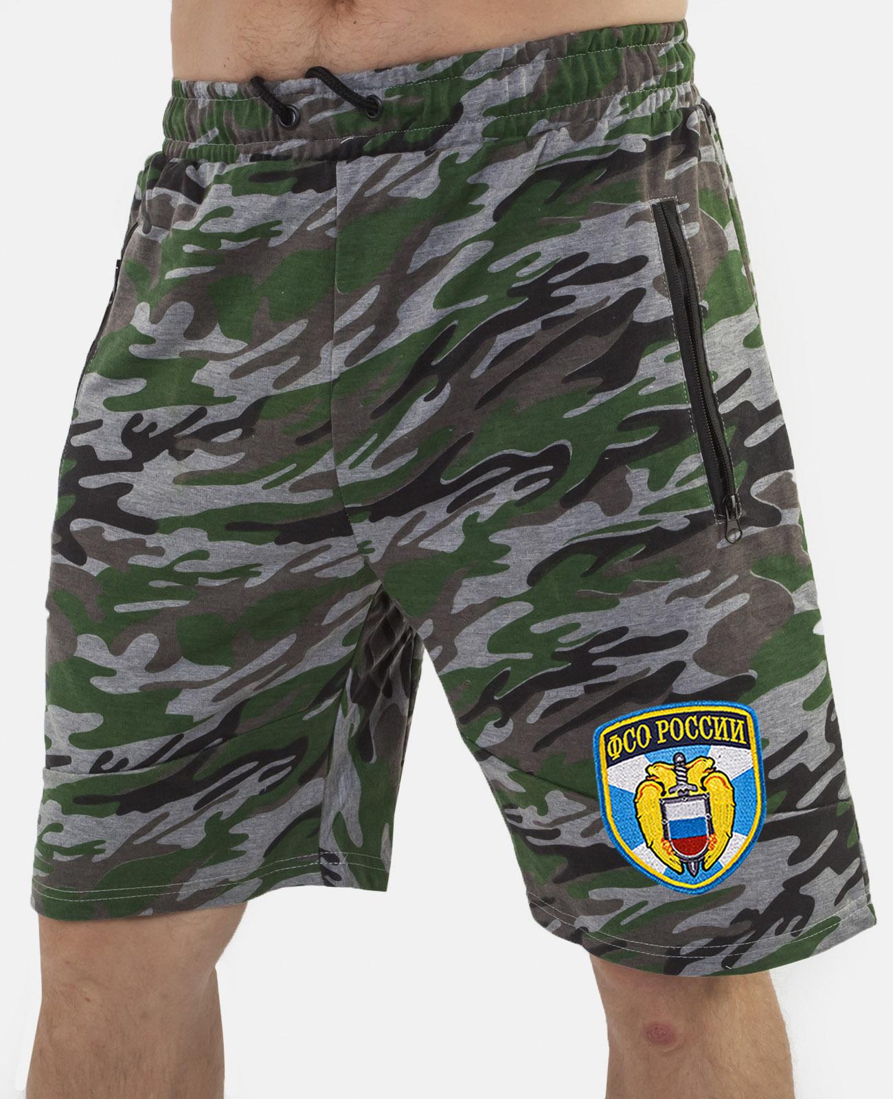 Купить зачетные мужские шорты нашивкой ФСО по экономичной цене