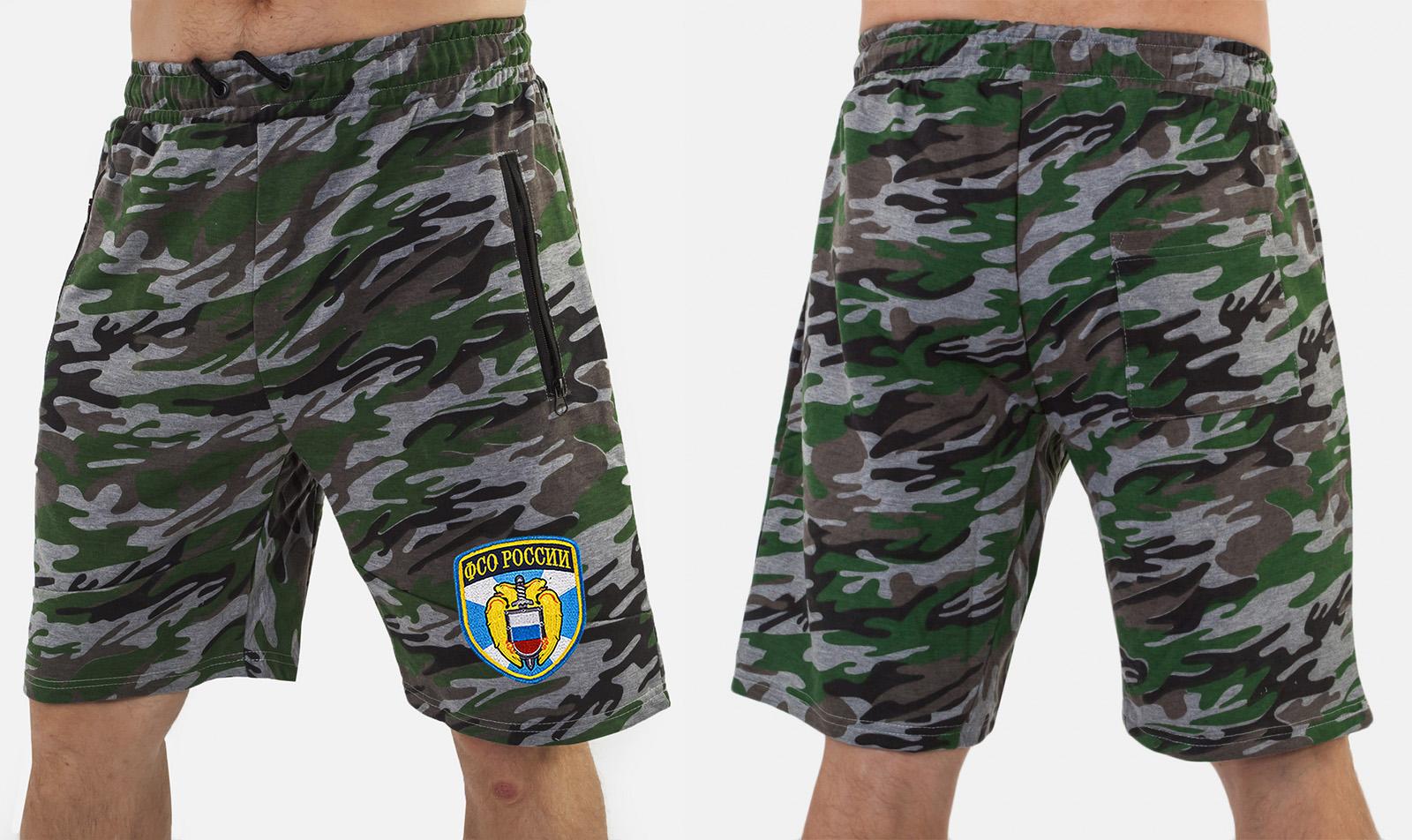 Зачетные мужские шорты нашивкой ФСО - заказать в розницу