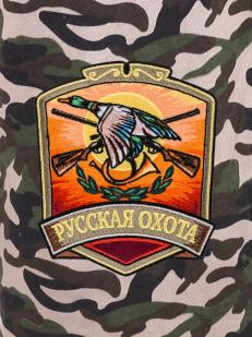 Зачетные шорты комфортного кроя с нашивкой Русская Охота
