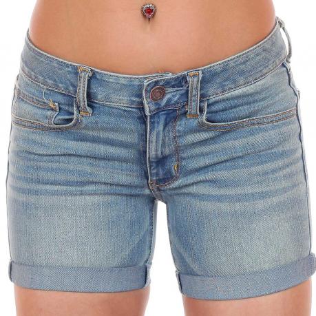 Купить зачетные шорты с модным подворотом