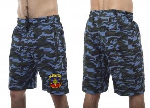 Зачетные шорты удлиненного фасона с нашивкой РВСН - заказать в розницу