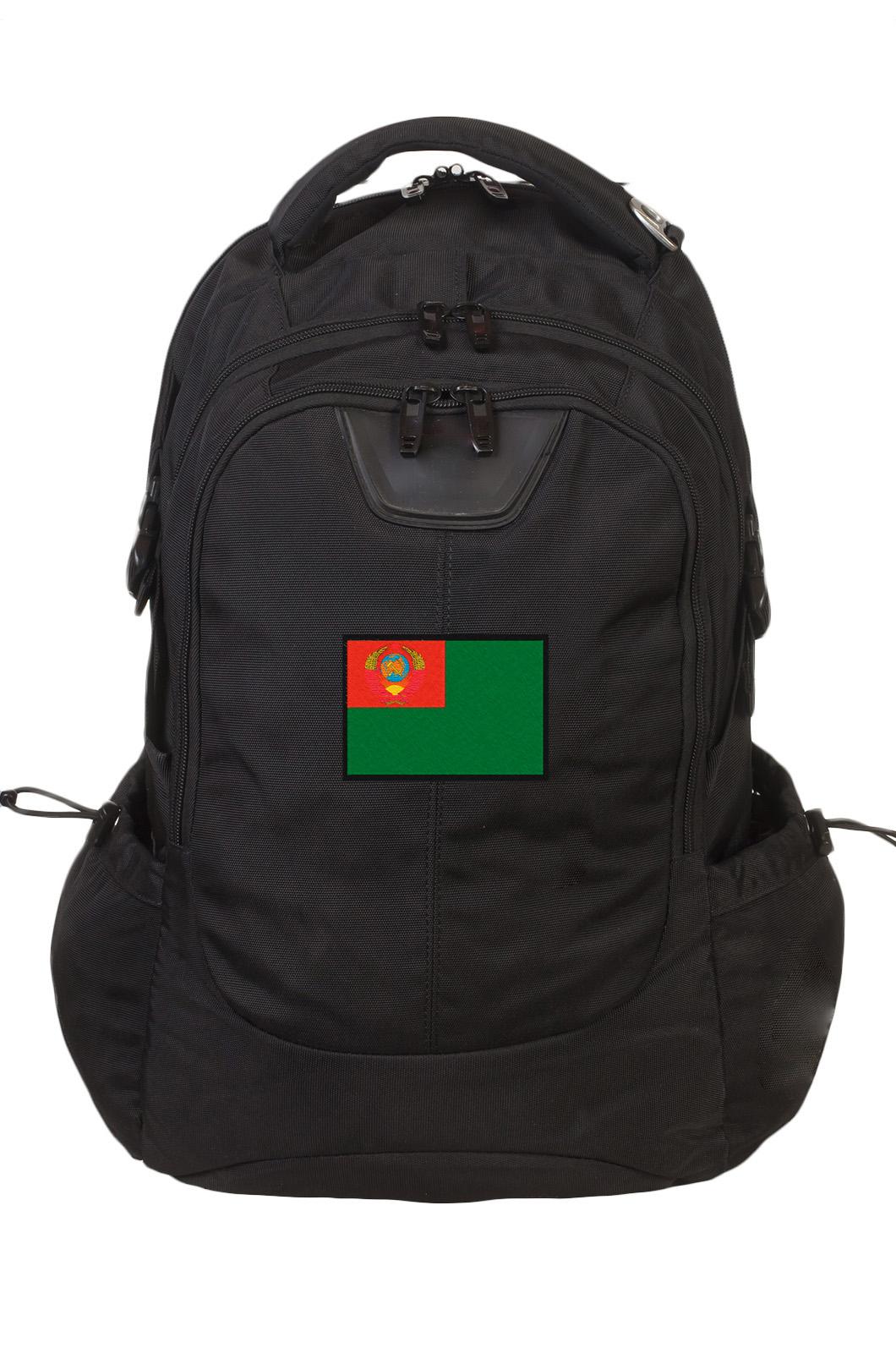 Зачетный черный рюкзак с нашивкой Погранвойска